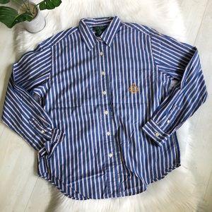 Ralph Lauren 100% Cotton Monogram Shirt, 12P